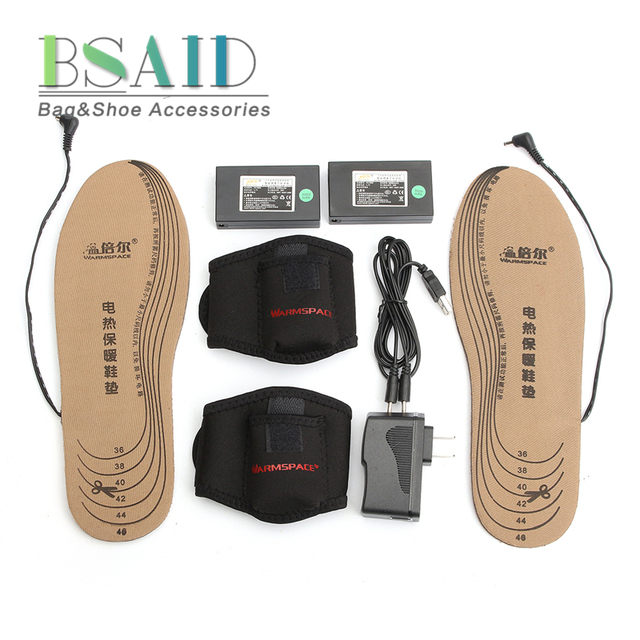 f549031c70a US $49.41 |BSAID Rechargeable USB Electric Heated Insoles, Winter Keep Warm  Shoes Pads, Men Women Heated Foot Inserts, DIY Cut EUR36 46-in Insoles ...