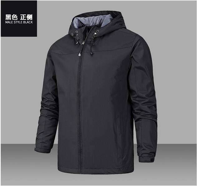 RICHARDROGER весна новая мужская брендовая одежда спортивная мужская тонкая ветровка на молнии пальто Верхняя одежда с капюшоном мужская куртка-...