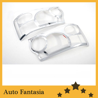 Auto Chrome Parts Chrome Head Light Cover for Range Rover Sport 05 12 Free Shipping