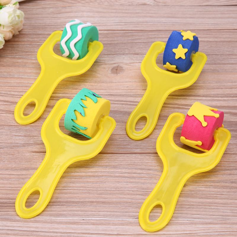 4Pcs-Creative-set-for-kids-yellow-sponge-brushes-children-kids-painting-graffiti-toys-plastic-handle-drawing-brush-drawing-toys-3