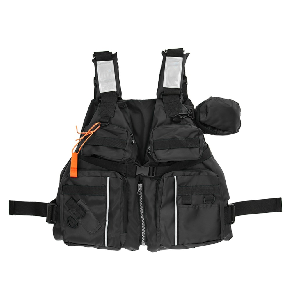 Outdoor Fishing Life Vest Backpack Adult Fishing Vest Polyester Jacket Outdoor Swimming For Pesca Survival Safety Life Jacket