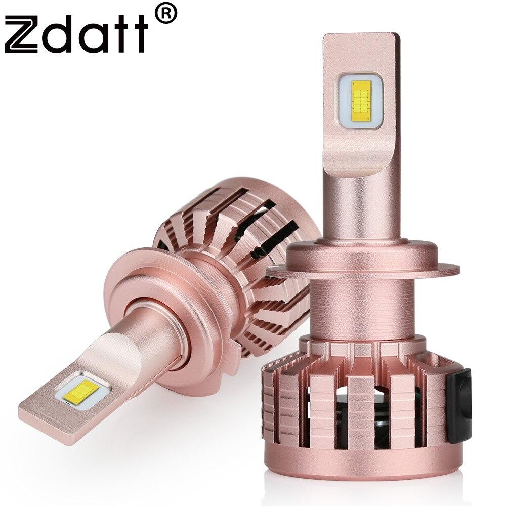 Zdatt фар автомобиля лампы H7 светодиодный H4 H1 H11 9005 9006 HB3 HB4 HB2 100 Вт 12000LM 6000 К флип светодиодный чип туман свет автомобили 12 В 24 В