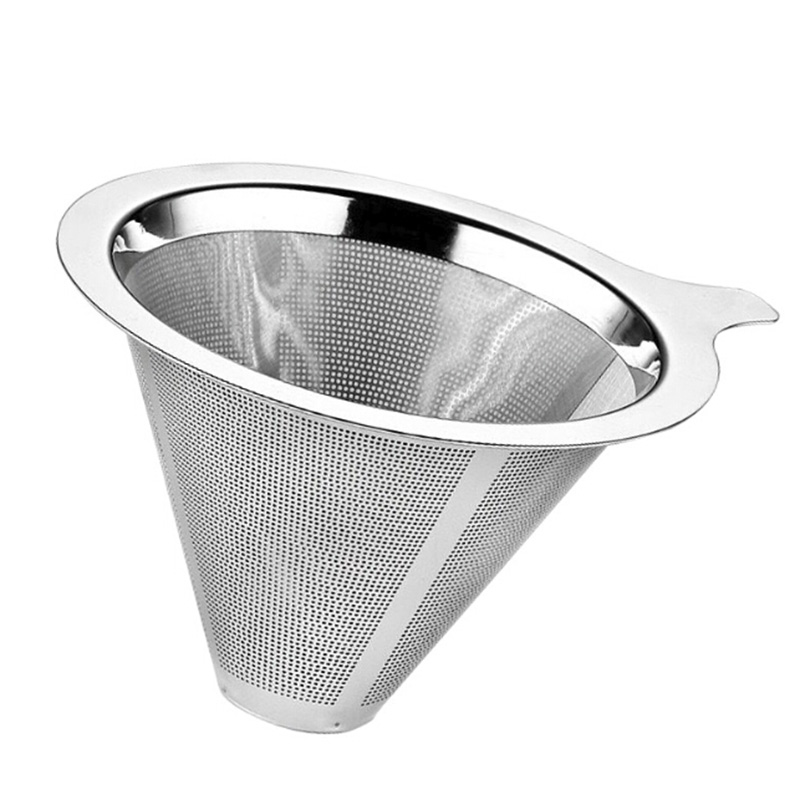 3 Pieces Mesh Pour Over Cone Dripper Coffee Filter Teas Strainer Funnel