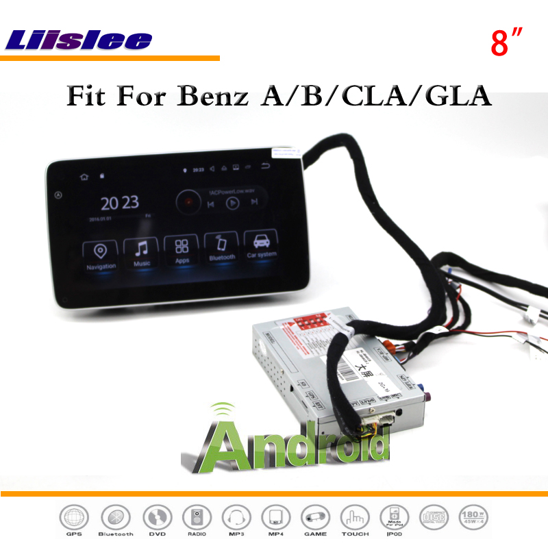 Liislee Car Android Multimedia For Benz A / B / CLA / GLA Without AUX Stereo Radio BT WIFI CD DVD Player GPS Navigation System