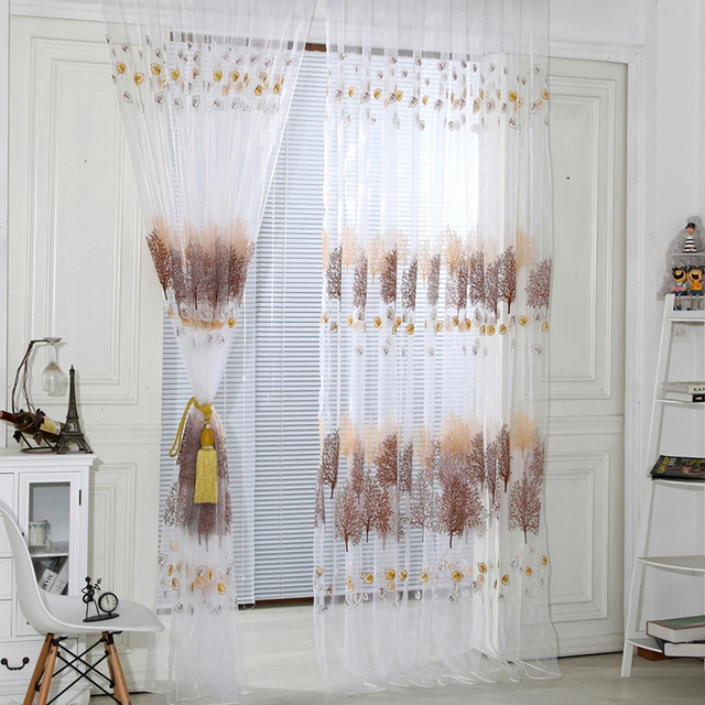 sheer voile curtains for bedroom wear rod style modern living room