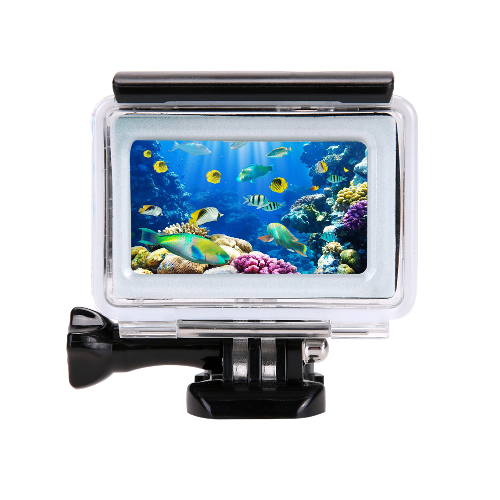 Alloet 35m Diving Waterproof Case For Xiaomi Yi 4K 2 II Action Camera Xiaoyi Case 4K Yi Accessories
