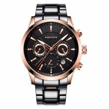 KASHIDUN. Men's Watches Luxury Military Luminous Casual Wristwatch Fashion Chronograph Steel Waterproof Watch relogio masculino