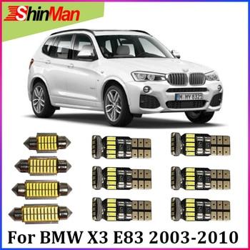 ShinMan-luz LED Interior para coche, iluminación para BMW X3 E83, juego de luz Interior, LED 2003-2010, interior de coche