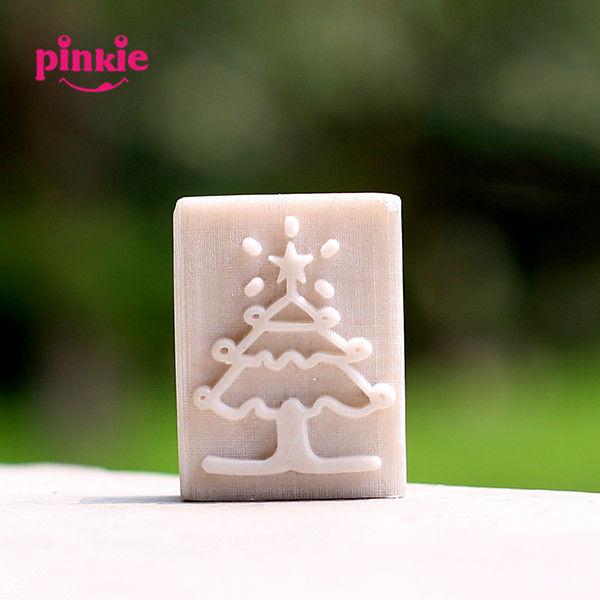 Christmas tree resin soap stamp custom DIY new resin seal Soap printed pattern Clover soap chapter