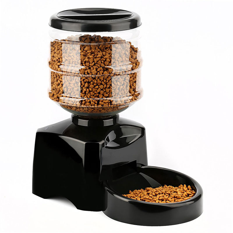 Newly Pet Feeder 5.5L Automatic Feeder Electronic Digital Display Bowl Dispenser For Dog Cat TE889