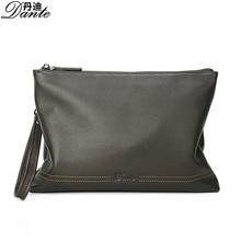 Men's hand bag Fashion Brand leather men's wallet business casual soft large capacity Document/ messenger bags/handbag tide