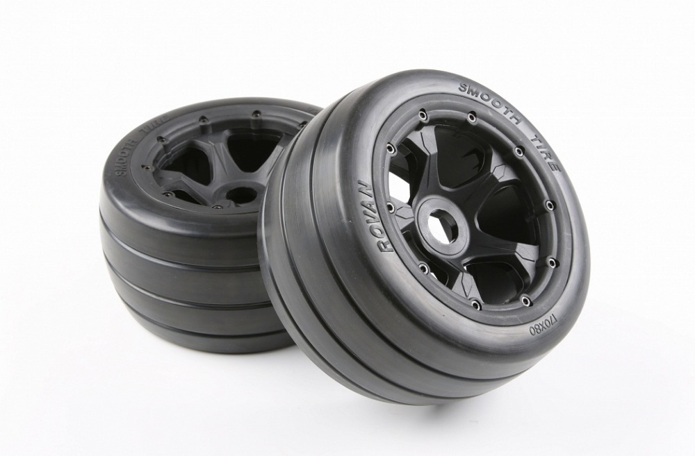 1/5 rc car spare part rear slick wheel set fit HPI Rovan baja 5b King motor truck