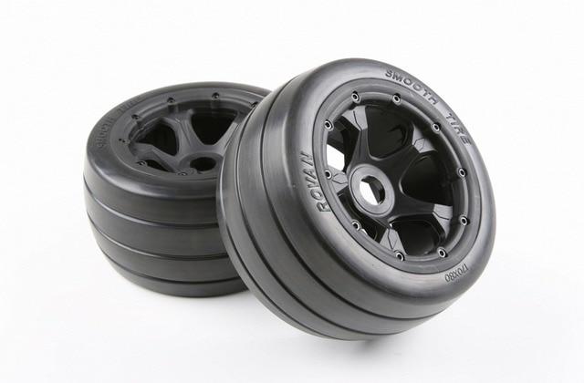 1/5 rc car spare part rear slick wheel set fit HPI Rovan baja 5b King motor truck