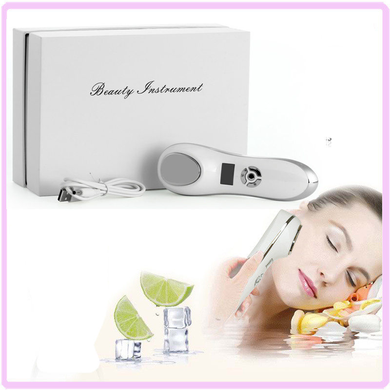 ФОТО  Free Shipping Portable Electric USB Rechargeable Anti Aging Sonic Vibration Facial Beauty Massager Skin Rejuvenation