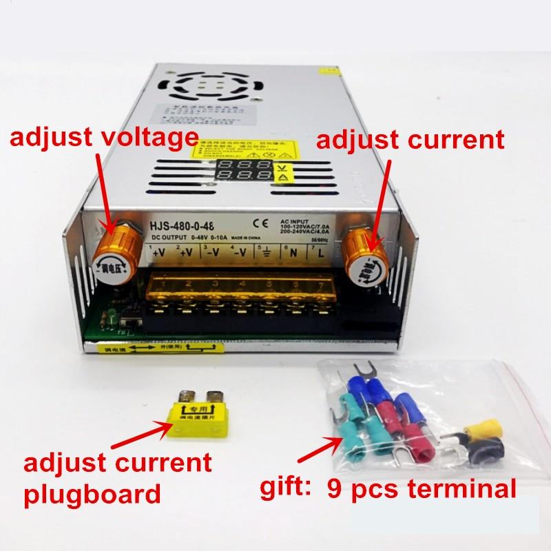 480W affichage numérique alimentation à découpage tension réglable limite de courant 0-24V 36V 48V 60v 80V 120v 220 v, 24v 20A, 48V 10a - 4