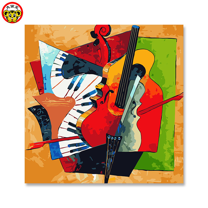 painting by numbers art paint by number abstraction Abstract the guitar Framed Pictures DIY Home Decoration For Living Room DIY