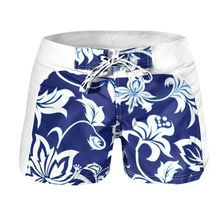 2017 Men Shorts Summer Boys Cool Floral Board Shorts Trunks Swimwear Beach Wear(China)