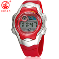 OHSEN 7 Colors LED Backlight Alarm Date Stopwatch Red Jelly Silicone Wristwatch Boys Kids Children LCD Digital Sports Watches