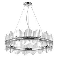 Post modern Pendant Light circle crystal light Dia.80cm chrome G9 bulb warm white 3000K livingroom lamparas Home Decoration Lamp