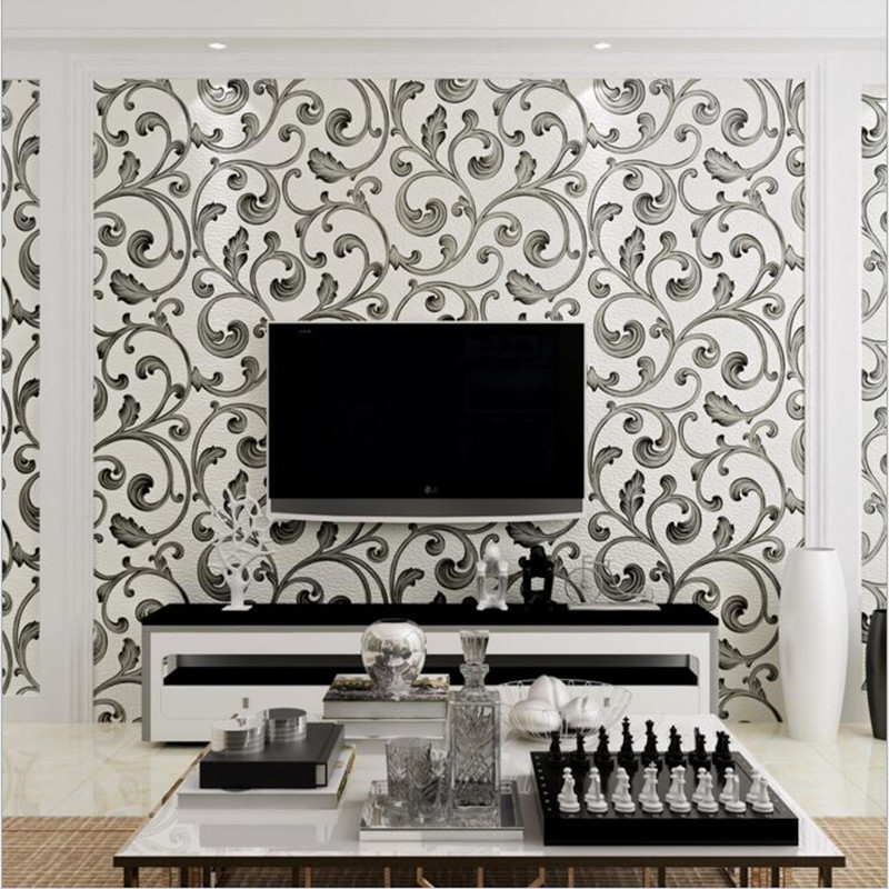 European Modern 3D Embossed wallpaper for Conference room living room bedroom Floral Wallpaper Roll Desktop Decor Wall Papers yt0281 italy 2009 european conference on religion european map 1ms new 0521