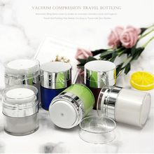 1pc 15g 30g 50g Cosmetic Jar Empty Acrylic Cream Cans,Vacuum Bottle,Press Jar,Sample Vials,Airless Container 55