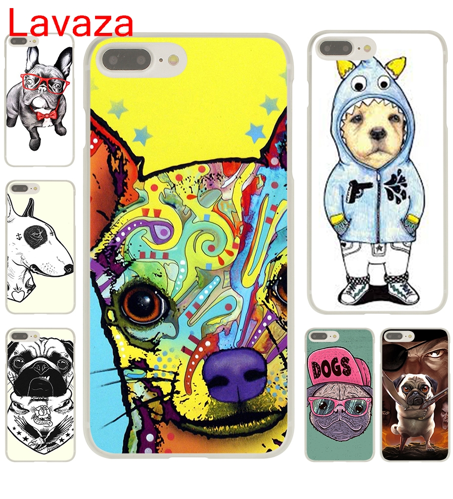 Lavaza Tattooed Bullterrier Cute dog Biaoqing Hard Transparent Case Cover for iPhone 8 Plus