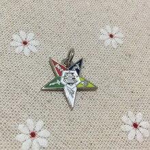 10pcs wholesale Hot sale Masonic Mason Chapter Eastern Star Charm Jewelry Freemasonic Pendant Freemasonry lodge