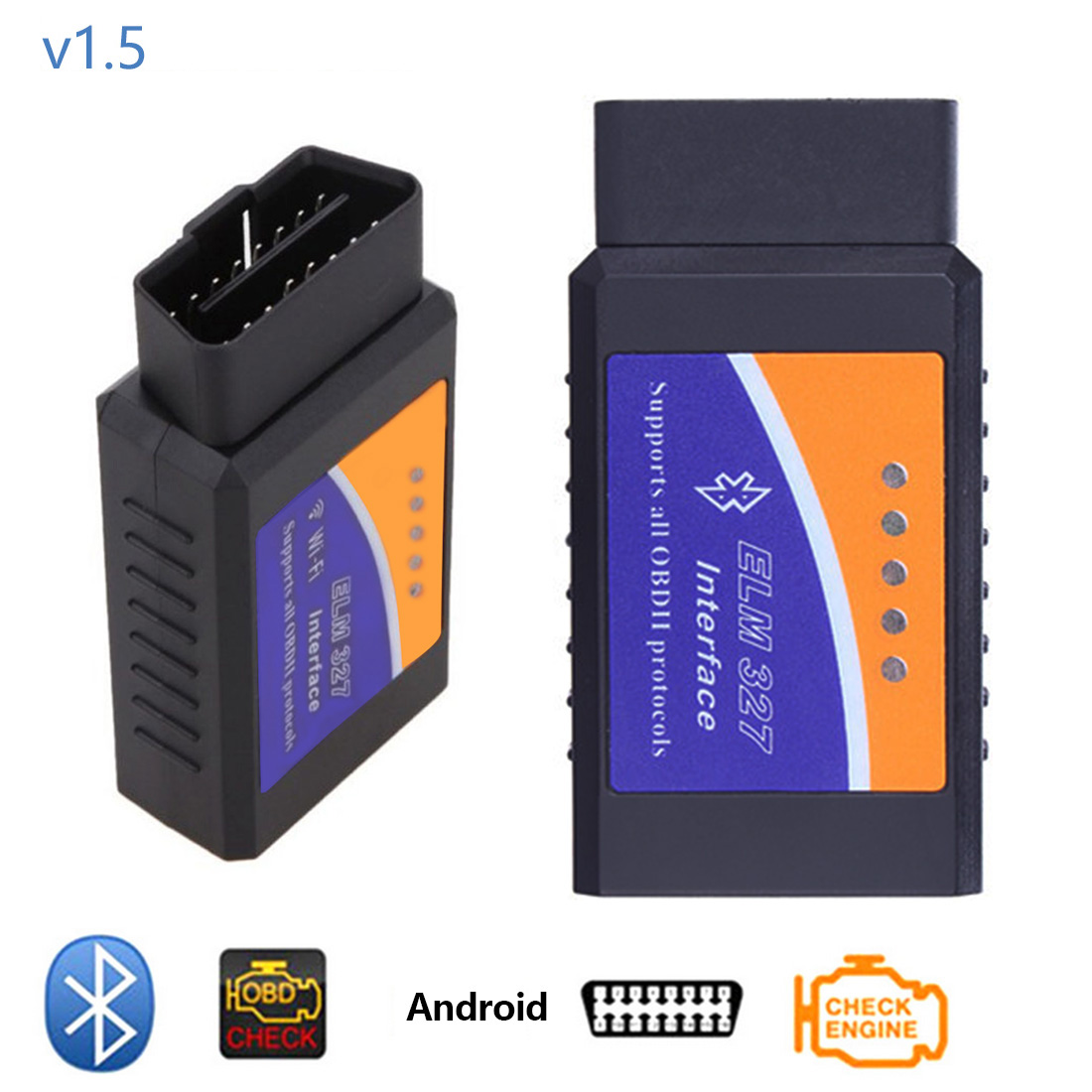 Dewtreetali автомобиля диагностический инструмент ELM327 USB V1.5 PIC18F25K80 чип Bluetooth сканирования Интерфейс OBDII Авто Code Reader OBD2 ELM 327