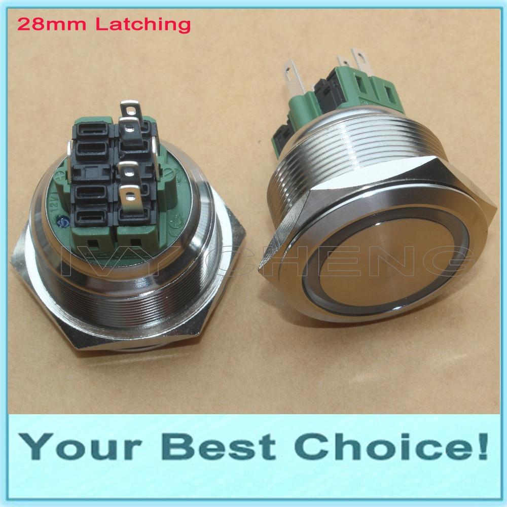 5Pcs Technical Locking Momentary ON//OFF Push Button Car//Boat Switch 12mm DSUK