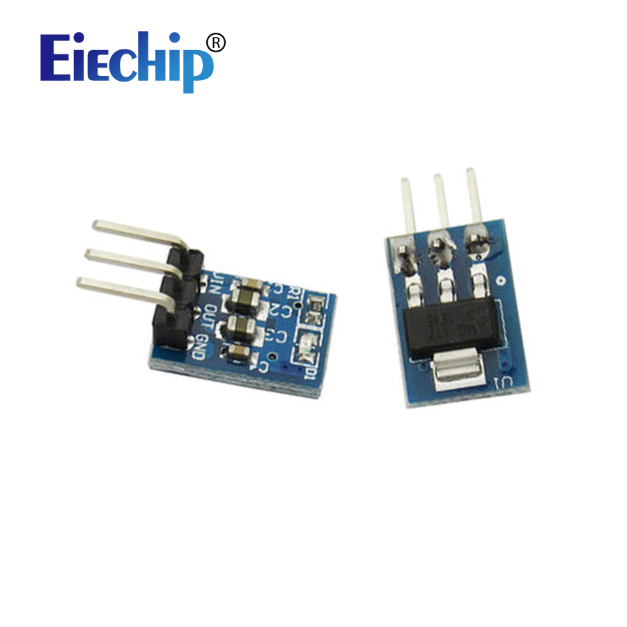 5pcs/lot 5V To 3.3V DC-DC Step-Down Power Supply Module AMS1117 800MA DC DC Buck Converter Step Down Voltage Power Board