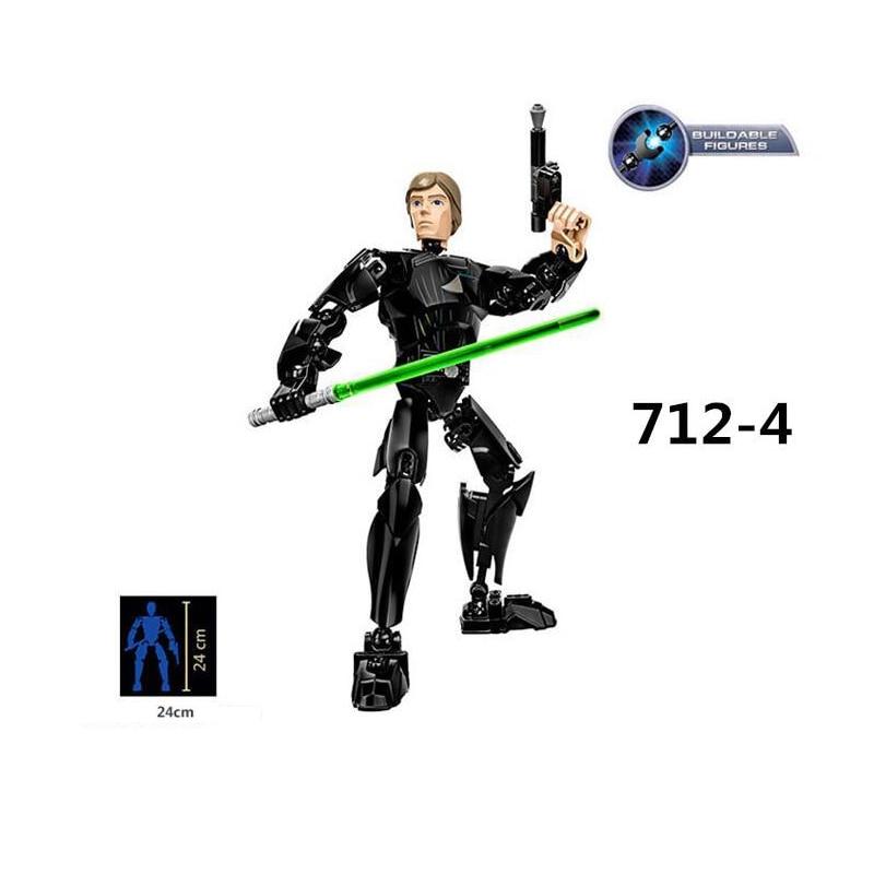 Star Wars The Last Jedi Toys Darth Vader General Grievous Boba Fett Chewbacca Luke Skywalk Figure building blocks for children