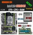 HUANAN ZHI V2.49 X79 placa base LGA2011 ATX combos E5 1650 V2 SR1AQ 4x4G 16 GB 1333 Mhz USB3.0 SATA3 PCI-E NVME M.2 SSD