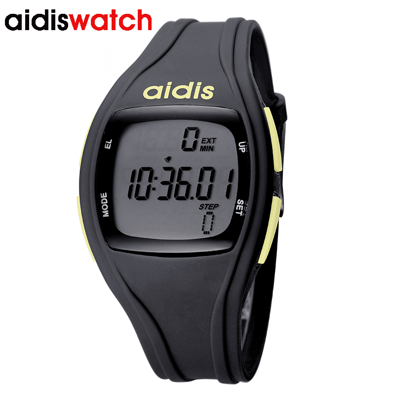 Children timer running man watch Multi functional electronic watches military students pedometer outdoor digital wrist watch