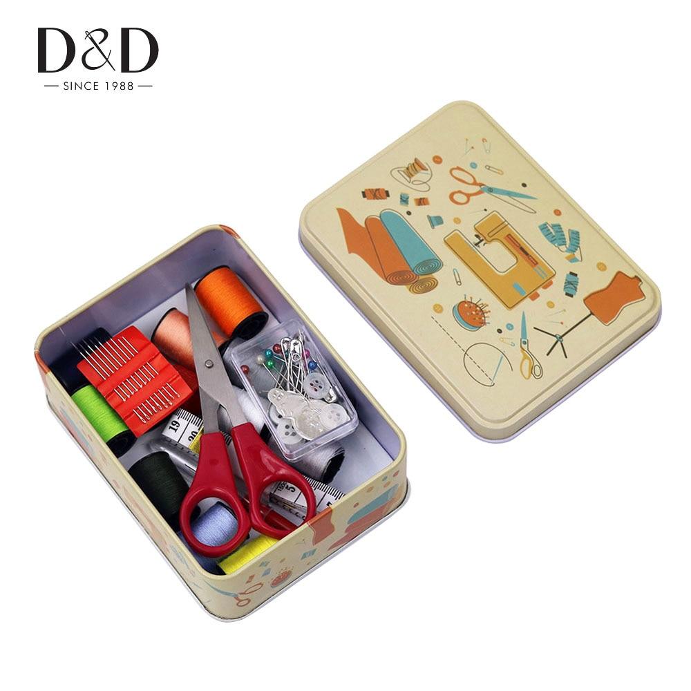 D & D 52 Teile/satz Mini Nähkästchen Nähgarn Stiche Nadeln Werkzeug ...