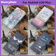 Hot! Cartoon Pattern PU Leather Cover Case Flip Card Holder Cover For Oukitel U20 Plus Wallet Phone Cases