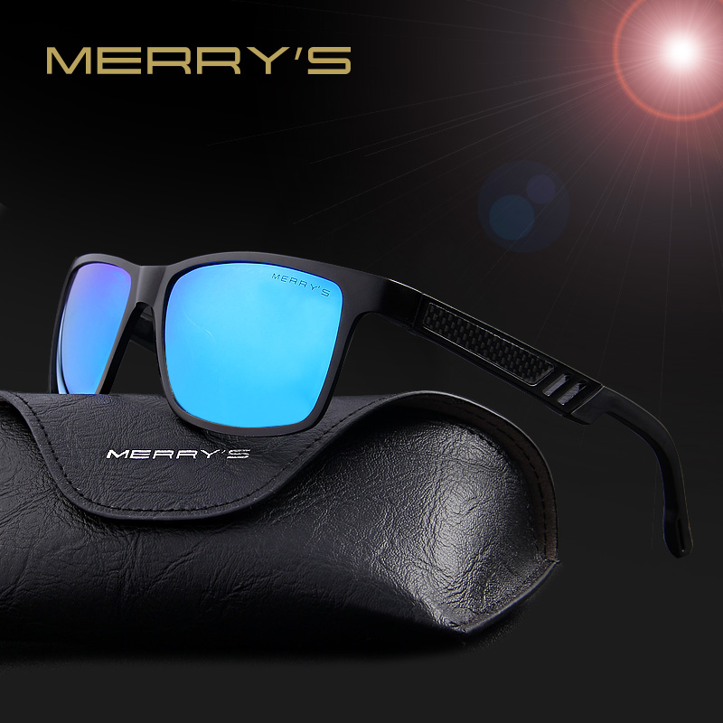 MERRY'S Fashion Aluminium Magnesium Polarized Sunglasses მამაკაცის მზის სათვალეები UV400 Driving Eyewear oculos Shades S'8571