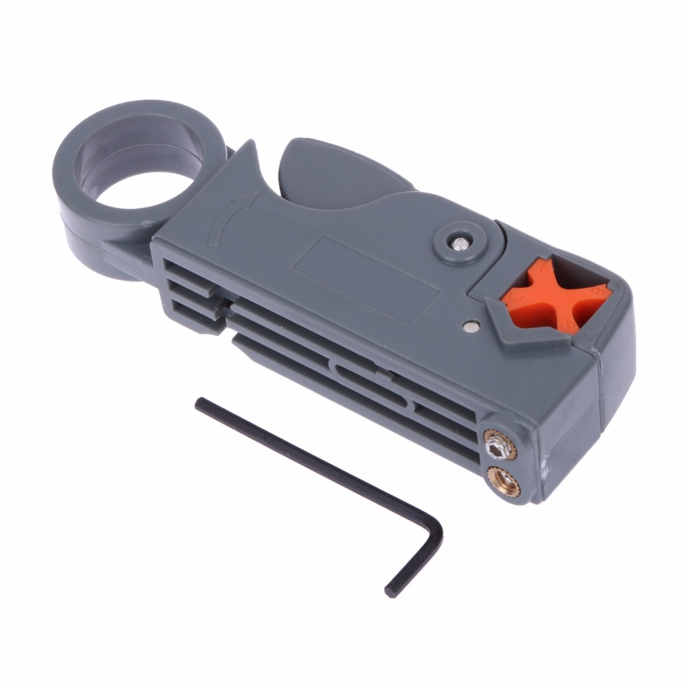 Cable Stripper Pliers Rotary Coax Coaxial Cable Cutter Tool RG58 RG6 Wire Cutter with a Hex Wrench Multi Tool