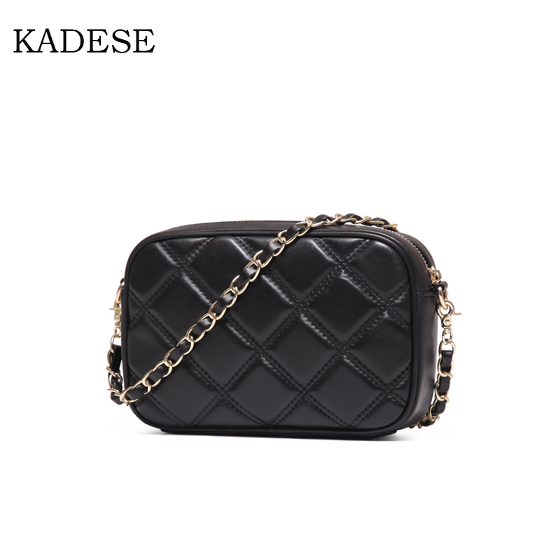 KAIDESE Small bag 2017 summer new authentic sheepskin bag Lingge Simple Shoulder Messenger Bag Mini chain 2016 new summer collectionkorean handbag shoulder bag mini chain bag simple portable strap125cm woman bag