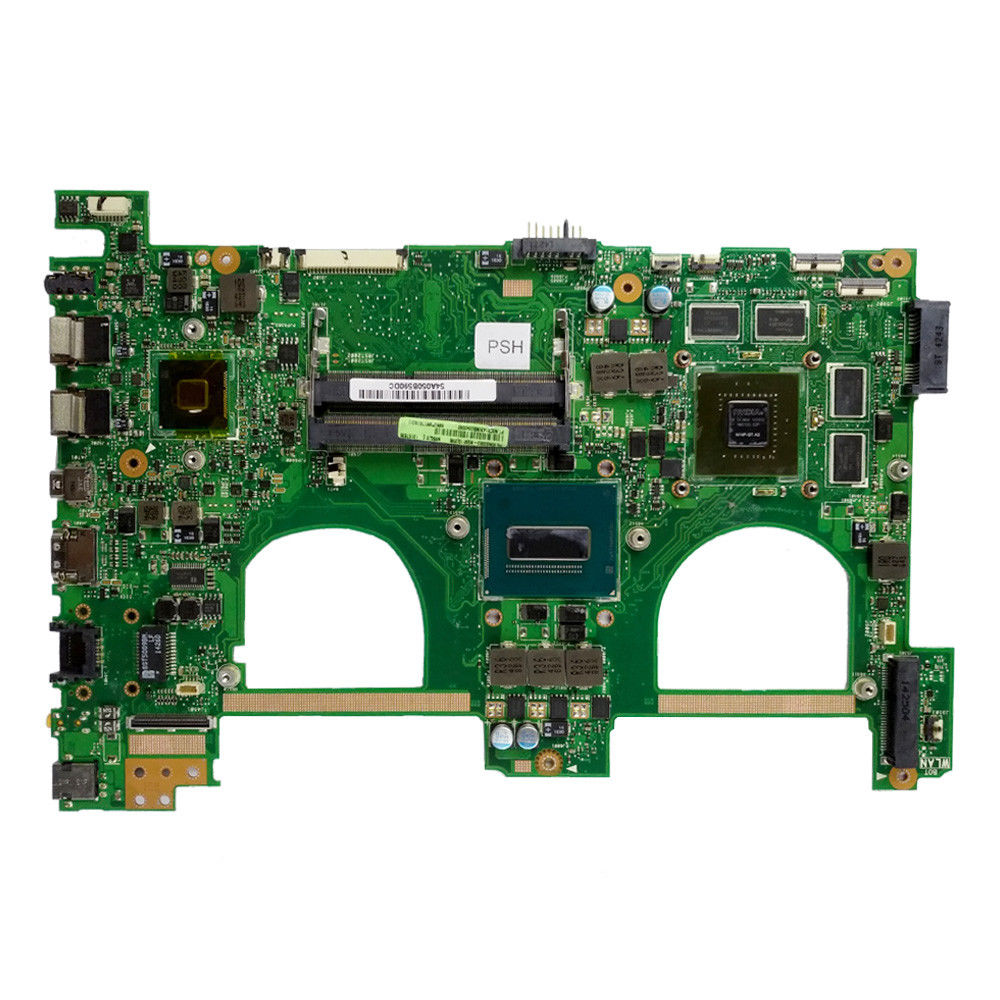 Купить с кэшбэком Send board+I7-4700HQ GTX850M 4GB N550JK Laptop motherboard for ASUS N550J N550JK N550JV Q550JV mainboard N550JX Motherboard