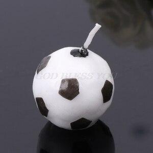 Image 4 - 6 pièces/ensemble ballon de Football Football bougies pour fête danniversaire enfant gâteau décoration fournitures livraison directe