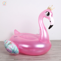 110cm pink Inflatable Flamingo Swimming Pool Float Tube Raft Adult Float Ride On Swimming Ring Mattress Summer Party Pool Toy