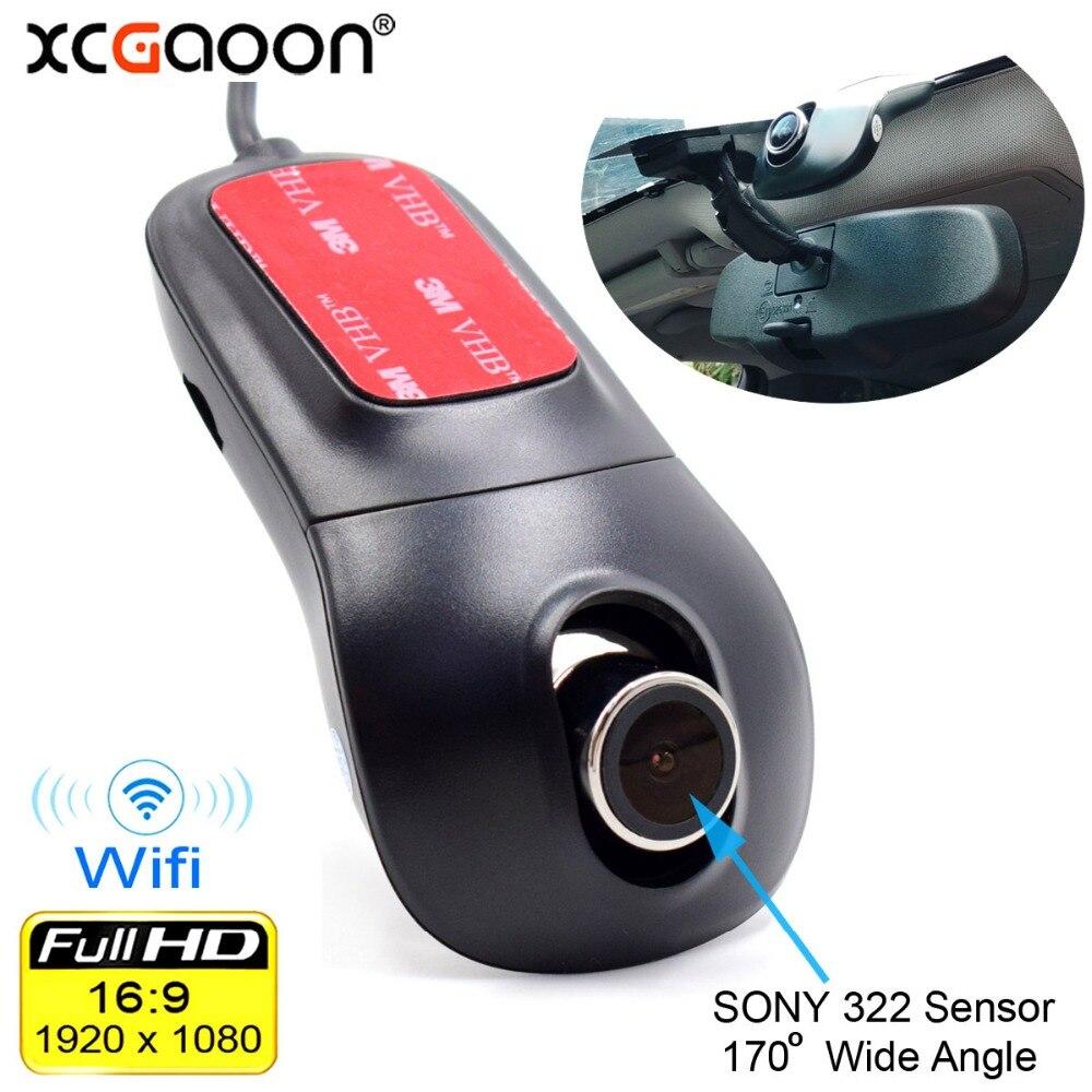 Купить на aliexpress XCGaoon Wifi Автомобильный регистратор DVR цифровой видеорегистратор видеокамера тире камера 1080 P ночная версия Novatek 96655 поворот 60 градусов