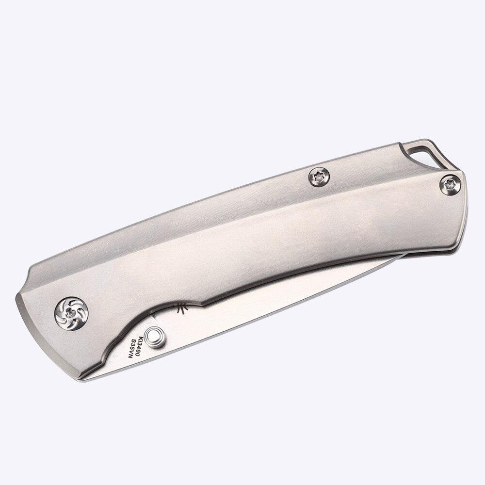 Купить с кэшбэком Kizer best survival knife Ki3490 T1 hunting camping knife s35vn blade high quality hand tool