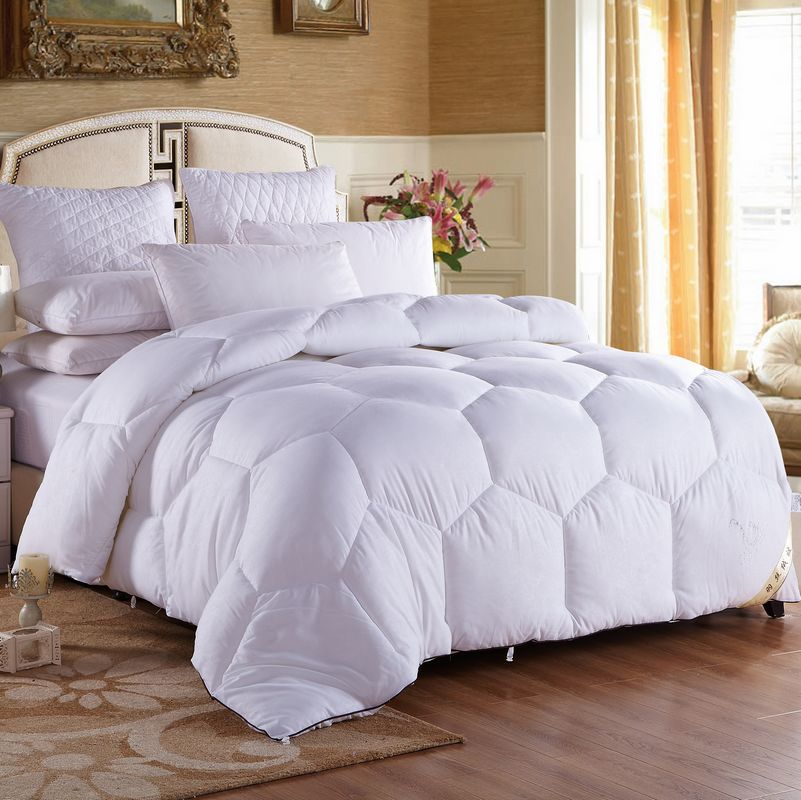 DIFUNINA New Arrival Soft Feather Velvet Core Quilt Double Bed Quilt Keep Warm Thick Queen Size King/Full Size Four season Quilt
