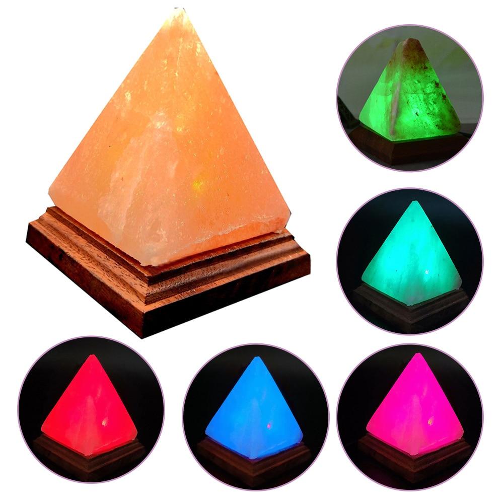 Image 4 - USB Charging Ionic Crystal Salt Color Changing Lamp Himalayan Led Natural Rock Air Purifier Night LightLED Night Lights   -