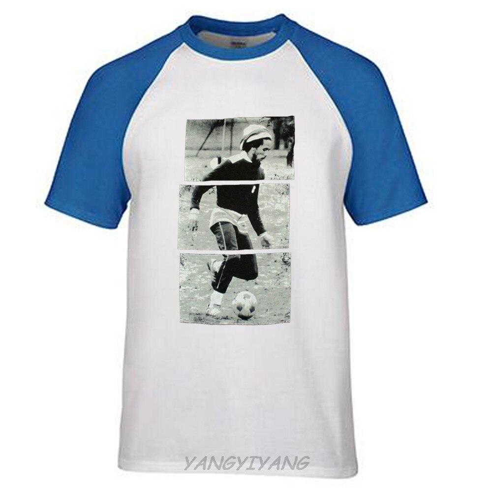 New Men'S T Shirt Bob Marley Soccerer Stripes Image Black