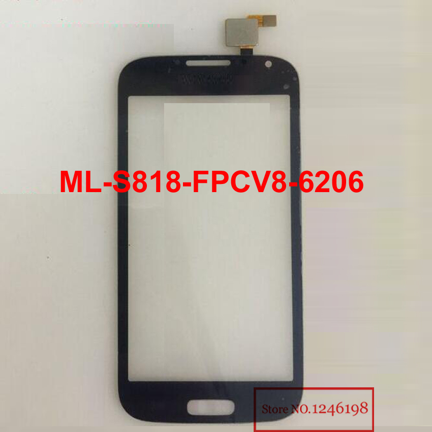 Black White 5 0 touch screen digitizer China i9500 S4 ML S818 FPCV8 6206 Front Touch