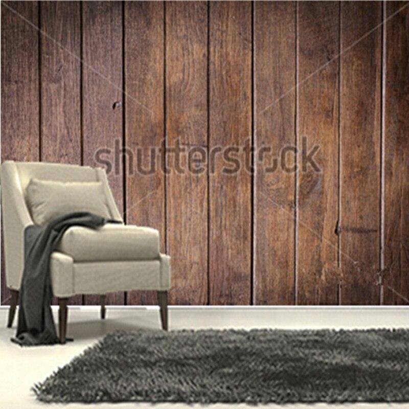 Tv Op Plank Aan Muur.De Custom 3d Muurschilderingen Timber Hout Bruin Muur Plank Vintage