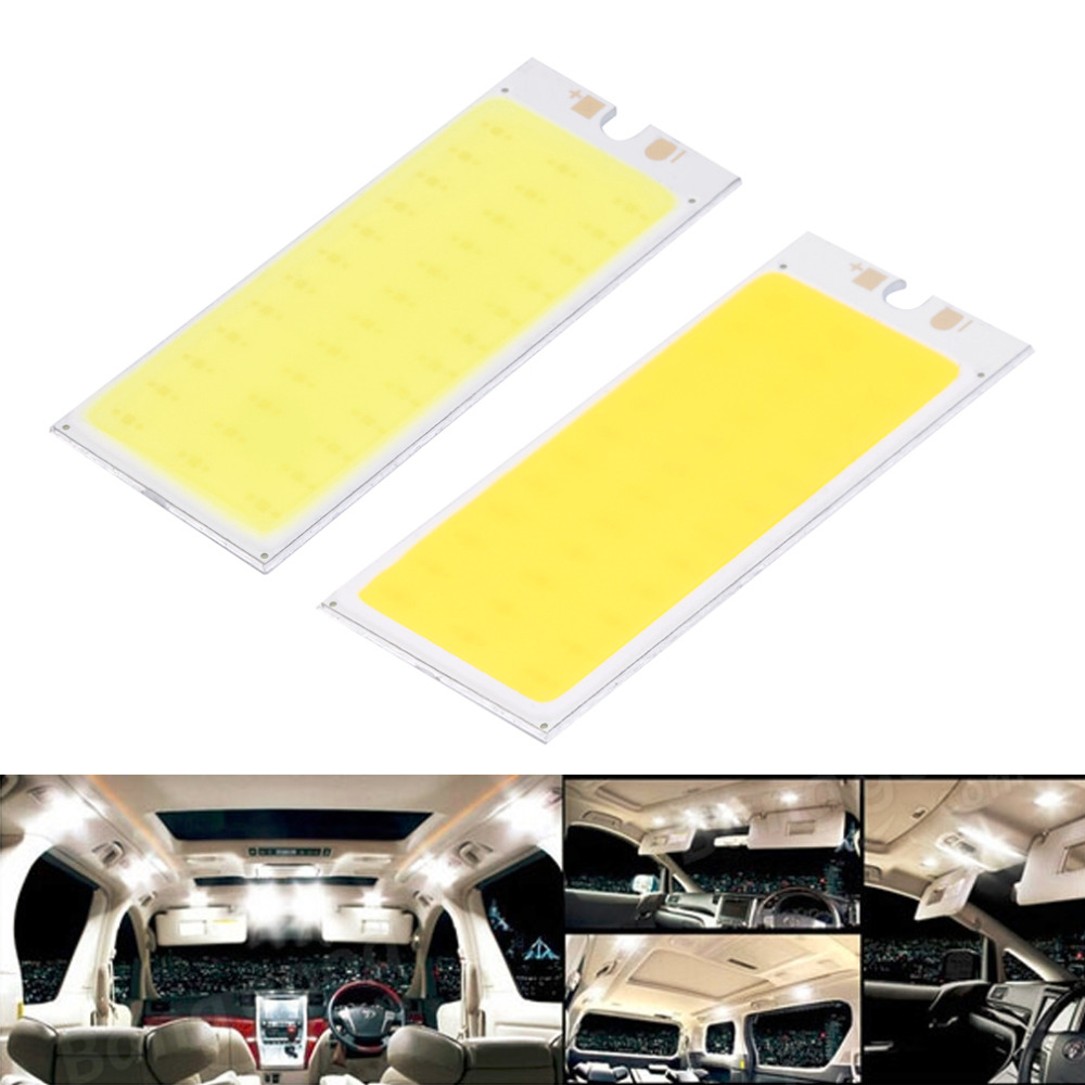 2017 New Arrival 36 COB LED Chip Panel Bulb 220mA 12V Car Interior Lamp Reading Night Light For DIY, Warm White/Pure White