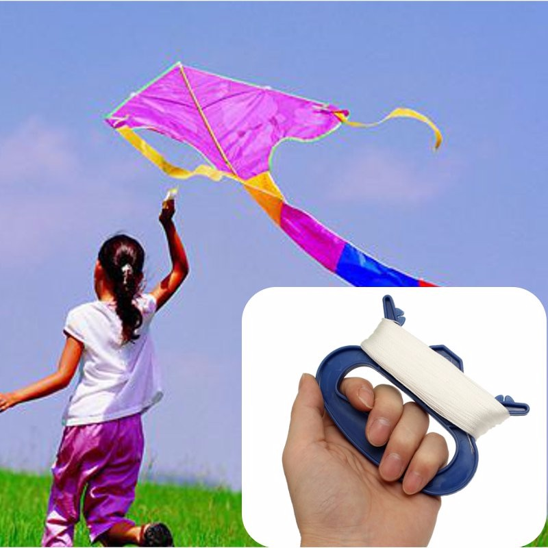 3050100m-Outdoor-Sports-Flying-Tools-Kite-Parts-Line-String-w-D-Shape-Winder-Handle-White-Line-Kites-Accessory-Reel-Board-3